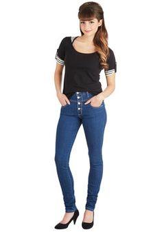 Karaoke Songstress Jeans, #ModCloth