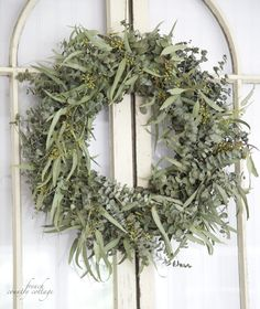 FRENCH COUNTRY COTTAGE: Fresh Eucalyptus Wreath via Balsam Hill