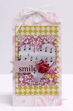smile tag - Anita Bownds #sassyscrapper #chicaniddy #365