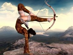 I plan on learning archery, and deepening my practice in yoga…so add this sweet move to the bucket list, eh? Inspiration Tattoos, 3d Fantasy, Parkour, Urban Art, White Photography, Martial Arts, Street Art, Digital Art, Black And White