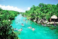Xel Ha, Mexico. Floating down the lazy river.