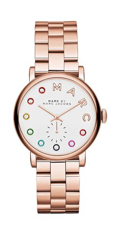 Marc by Marc Jacobs Rose Gold Baker Dexter Bracelet 36MM in Rose Gold
