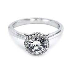 A simple engagement ring by Tacori