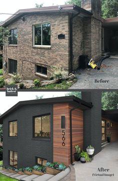 12 Xeriscape Ideas for a Modern Low-Maintenance Look | brick&batten Home Exterior Makeover, Exterior Remodel, Modern Exterior, Exterior Design, Renovation Facade, House Makeovers, Exterior House Colors, House Ideas Exterior, Home Exteriors
