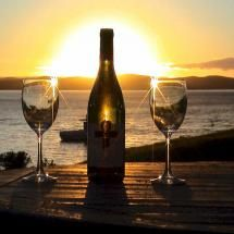 Sunset with wine