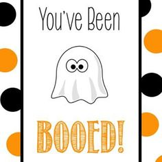Gonna Boo someone this year? I have this cute free printable and all the details at the link in the profile.