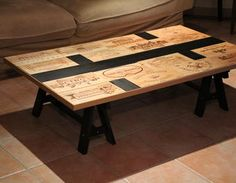 Table basse Caisse vins