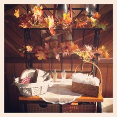 Rustic fall bridal shower decorations