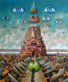 Surrealismo e arte visionaria: Jarosław Jaśnikowski / Surrealism Painting, Pop Surrealism, Arte Horror, Horror Art, Psy Art, Lowbrow Art, Visionary Art, Weird Art, Fantastic Art