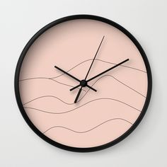 Pink Mountains Minimal / Wall Clock / SOLD!  #society6 #nileshkikuuchise #art #homedecor #lifestyle