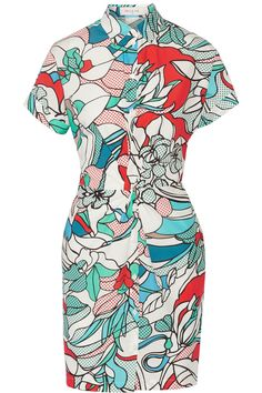 Violeta printed cotton-poplin shirt dress