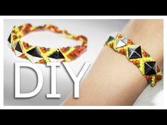 |DIY| Freundschaftsarmband mit Nieten - friendship bracelet with studs