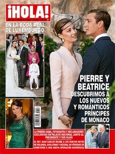 En ¡HOLA!: Pierre y Beatriz, descubrimos a los nuevos y románticos príncipes de Mónaco en la boda real de Luxemburgo