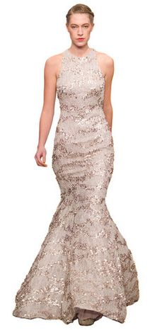 Sequin Fishtail Gown by ARIELLA @girlmeetsdress