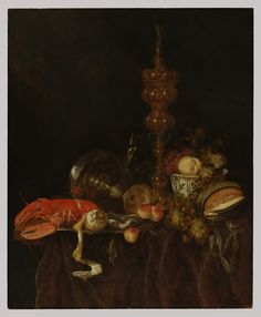 Polyster Canvas ,the Best Price Art Decorative Prints On Canvas Of Oil Painting 'Abraham Van Beyeren,Still Life With Lobster And Inch / Cm Is Best For Home Theater Decoration And Home Decoration And Gifts Fine Art Prints, Canvas Prints, Framed Prints, Spooky World, Dutch Still Life, European Paintings, Fruit Art, Metropolitan Museum, Art Reproductions