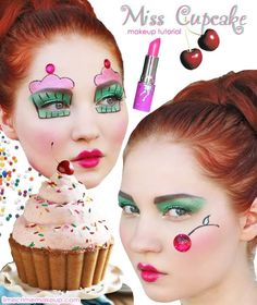 miss cupcake ☆ costume makeup
