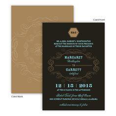 Fallon Wedding Invitations by TheAmericanWedding.com