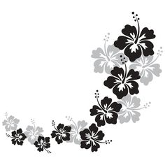 Buy Cascading Hibiscus Flowers Wall Decal from Dana Decals. Hawaiian Flowers, Hibiscus Flowers, Vinyl Art, Vinyl Wall Decals, Wall Stickers, Flower Wall Decals, Flower Svg, Stencil Patterns, Tropical Art