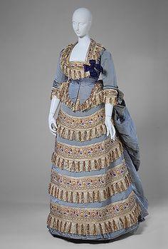 Vestido de baile,en seda, 1872.