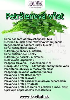 petržlenová vňať Beauty Detox, Health And Beauty, Health Benefits, Health Tips, Weight Loss Smoothies, Herbalife, Kraut, Good Advice, Superfoods