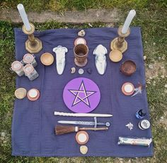 Complete pagan altar kit full size altar set large wiccan