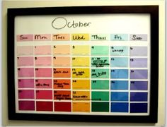 Month planner, reusable