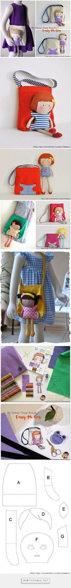 Olhem que ideia mimosa essa bolsa de menina. Que tal fazer para filha, sobrinha…