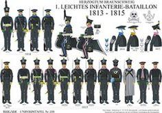 プレート226:ブラウンシュヴァイク公国:1.軽歩兵大隊1813から1815