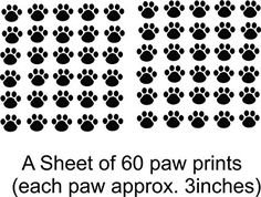 Best Selling Cling Transfer : Cat Kitten Puppy Dog Pet Leopard Cheetah Wild Animal Paw Print Wall Decal Sticker Size: 21 Inches X 31 Inches - 22 Colors Available