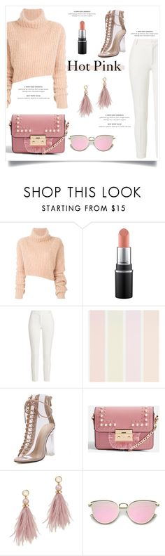 """Win It: NYFW Trend Spotting: Hot Pink"" by izmlr ❤ liked on Polyvore featuring Ann Demeulemeester, Joseph, Topshop, Lizzie Fortunato, contestentry and NYFWHotPink"