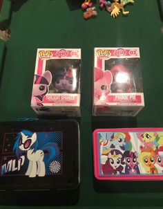 Pop figure and 2 collector tins