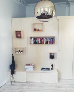 Walk-in-closet made in plywood