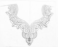 Blouse necks designs Drawings for hand emroidery/pencil sketch neck design for blouse How to draw neck design for blouse,kurti,and dre. Hand Embroidery Design Patterns, Flower Embroidery Designs, Types Of Embroidery, Fancy Blouse Designs, Blouse Neck Designs, How To Draw Necks, Bordado Popular, Jewelry Design Drawing, Jewellery Sketches