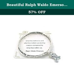 Beautiful Ralph Waldo Emerson Poem with Heart Charm Silver Tone Bangle Bracelet. Mom, Daughter, Sister, Best Friend, Grandma, Inspirational, Girl, Woman, Pandora Style, Morano Beads, Magentic, Stretch, Lobster Clasp, Bangle, Cuff, Bangle, Cute, Girl, Breast Cancer, Animal, Garden, Sea Life, Christian, Family Theme, Pink is the color of Strength, The ribbon is a symbol of Hope, Together it is a sign of Victory. School Teacher, Animal, Garden, Salt Life, Dolphin, Whale, Sand Dollar, Anchor...