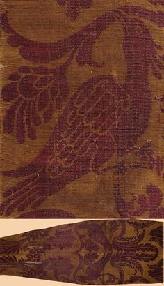 Antique Italian Textile, Silk Brocade.  Early 16th Century