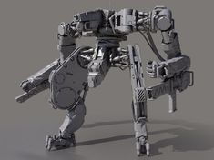 battle robot x02 3d model max obj fbx 2