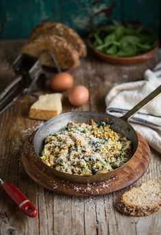 spinach and corn scramble recipe with parmesan