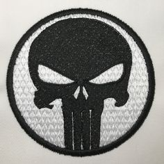 Motif de broderie machine gratuit PUNISHER – Broderie-Machine.com Le Punisher, Logo Chanel, Dc Comics, Superhero Logos, Free Design, Embroidery Designs, Tattoo, Free Machine Embroidery, Bruges Lace