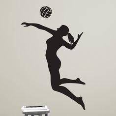 Female Volleyball Player Spiking - Dana Decals - 1