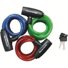 I'm learning all about Master Lock Cable Bike Lock, Blue, Green and Red, 3-Pack at @Influenster!