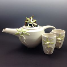 Ghost orchid tea set
