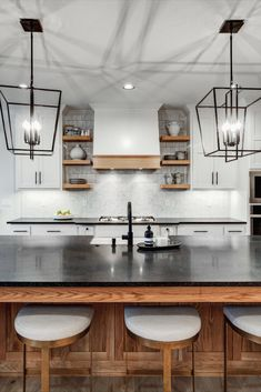 White Oak Cabinets and Accents in a Modern Farmhouse Kitchen