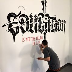 Education - Abu Dhabi NY University. by Luca Barcellona - Calligraphy & Lettering Arts, via Flickr This guy is awesome! Love his work!