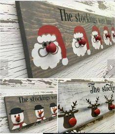 christmas crafts to sell Christmas stocking hangers Christmas Wood Crafts, Diy Christmas Gifts, Christmas Projects, Winter Christmas, Holiday Crafts, Holiday Fun, Christmas Wood Decorations, Xmas Crafts To Sell, Winter Wood Crafts