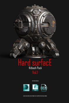 Hey guys! I want to share with you a Hard Surface Kitbash Pack 01 and I hope that it can be helpful for many other 3d artists and designers in different fields of CG! This huge library consist of 414 single objects and 108 mesh groups which can be used in creation of stunning robots, mechs, sci-fi devices, weapons or any other mechanical things, just use your imagination! I hope that you will find this pack useful and it will help you in your creativity! Please, feel free to send me your…