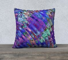 The Ripple Effect III, Blueberry - Pillow Cover, Square, 22x22