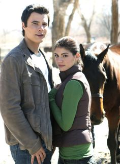 Genevieve Cortese as Kris Furillo and Ryan Sypek as Junior Davis in Wildfire?