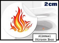 Toilet Stickers Vlam - 5 Stickers