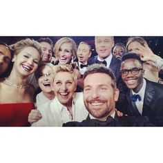 Gotta pin the legendary selfie... Within minutes this became the most famous selfie in all of history.