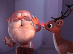 """Rudolph with your nose so bright, won't you guide my sleigh tonight!"""